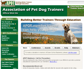 Association of Pet Dog Trainers Website